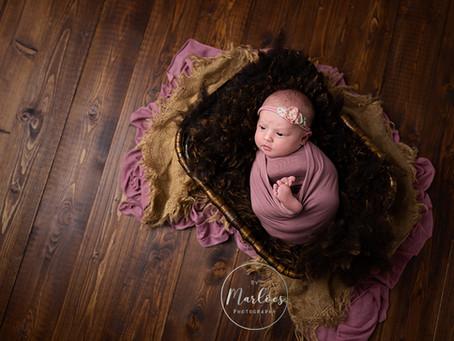 Lastminute newborn fotoshoot van Milou