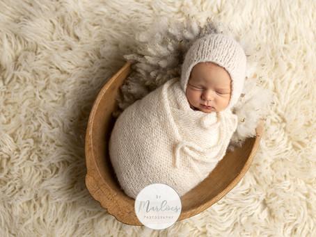 Newborn foto's van kleine Pim