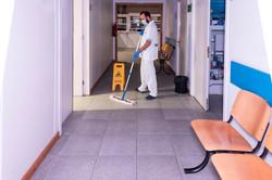 Cleaning Hospital Floor