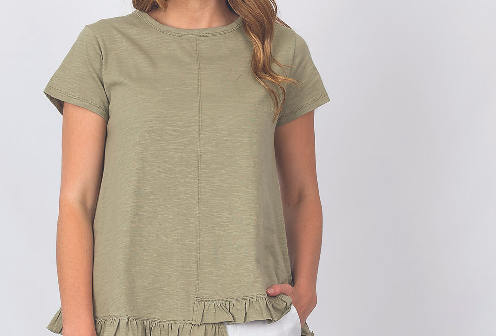 Renoma Cotton tee with frill