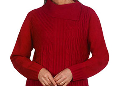 Jillian - Knitted jumper with collar
