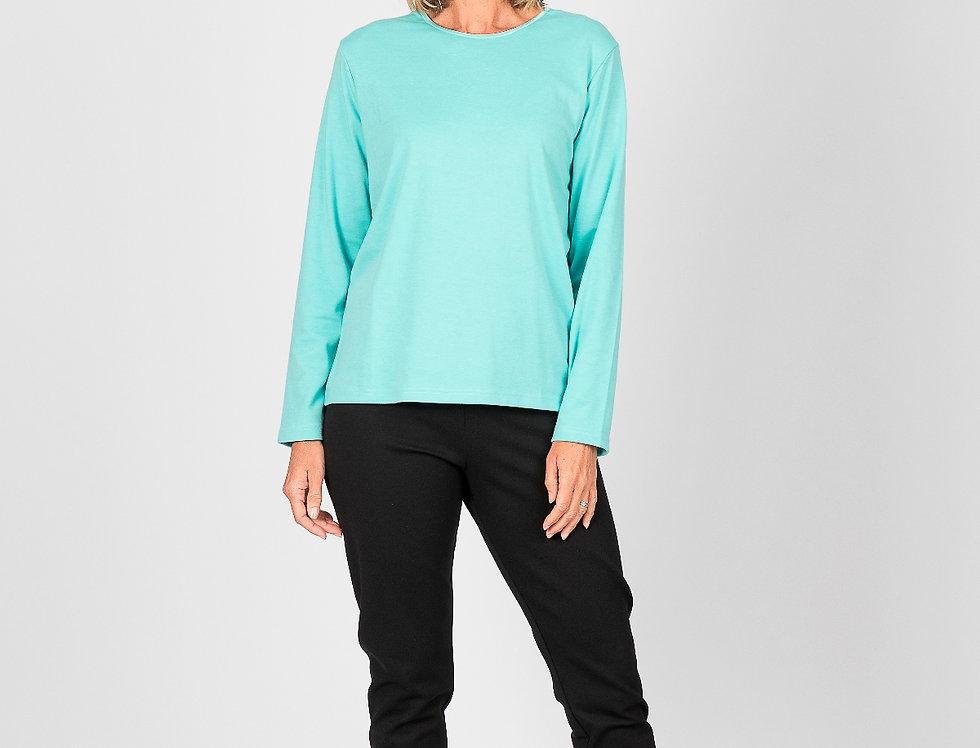 Renoma - Satin trim t-shirt