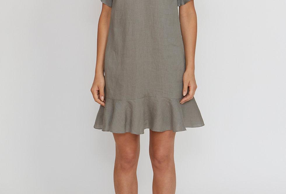 JUMP Frill Linen Dress