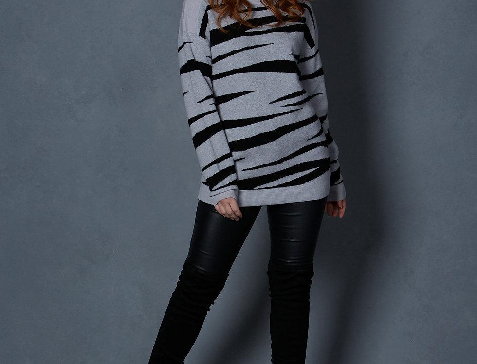 Zebra Merino Cashmere jumper1603
