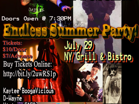 Live Show: The Infidel Netwerk Endless Summer Bash (7/29/2017 / NY Grill & Bistro, Langley, Cana