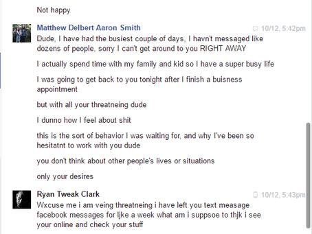 "A Public Response To Ryan ""Tweak"" Clark's Allegations Against Matthew Smith"