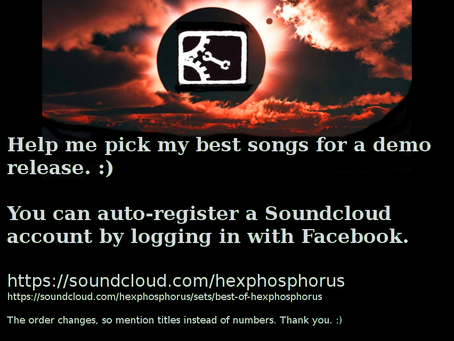 Vote For Which Songs Are On HexPhosphorus' First Release!