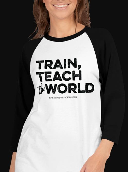 Train, Teach the World Baseball T-Shirt