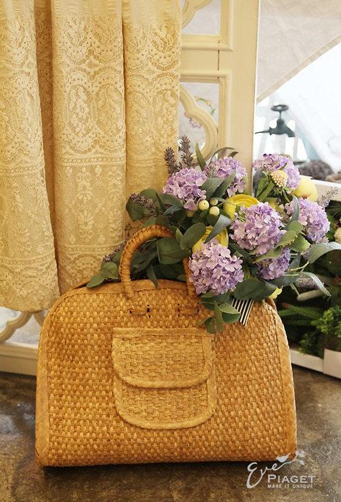 빈티지 왕골 가방
