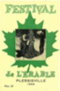 Dépliant du premier Festival de l'Érable de Plessisville