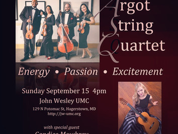 Concert w/ The Argot Quartet