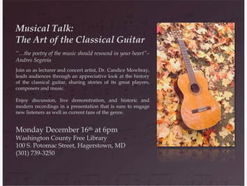 Lecture: The Art of the Classical Guitar