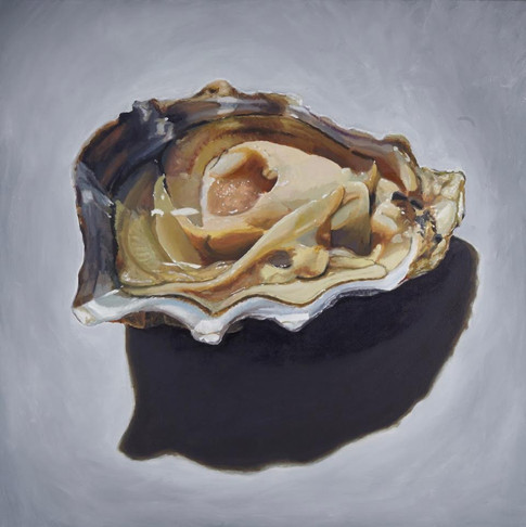 Rachel Maxi, Pacific Oyster (Crassostrea gigas), 2014, oil on canvas