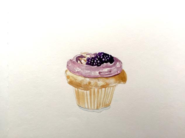 Blueberry and Mascarpone Cupcake