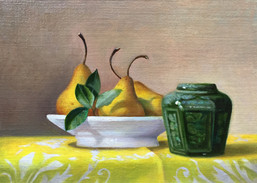 John Rizzotto, Ginger Jar with Pears