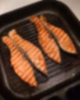 กระทะเหล็กหล่อKönig กริลปลาแซลมอน ไม่ติดกระทะ Grilled Salmon กระทะย่างสเต็ก