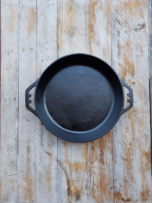 กระทะเหล็กหล่อ ขนาด 12 นิ้ว สองหู Pre-seasoned cast iron 12 inches