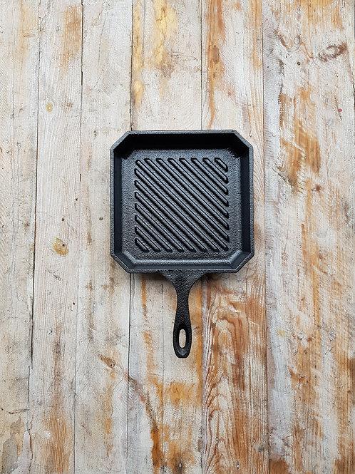 กระทะเหล็กหล่อลอนสเต็ก ขนาด 8 นิ้ว Pre-seasoned cast iron 8 inches