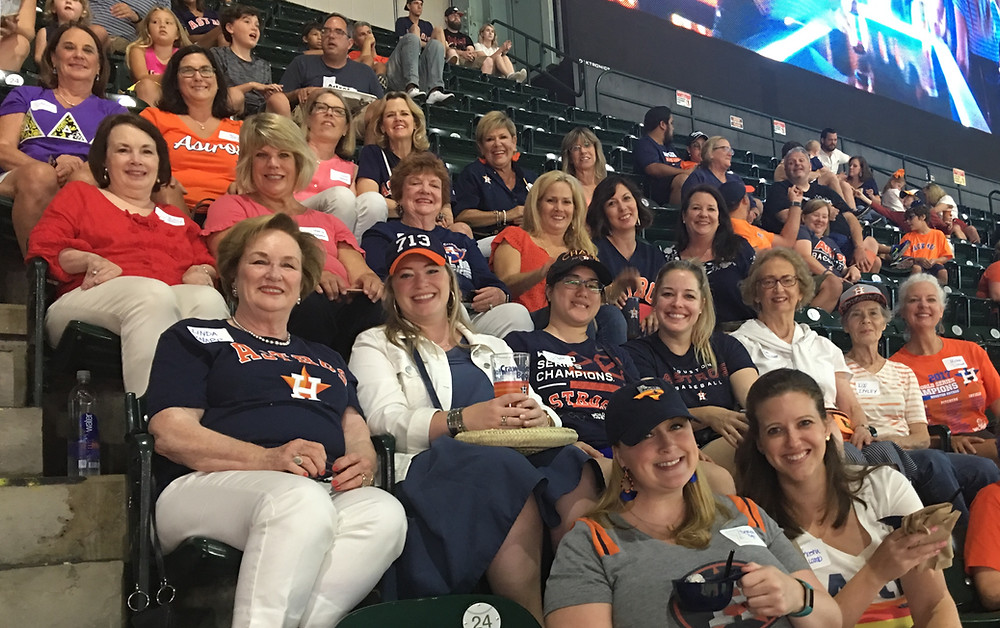 HAC Tri Delta hosts a brunch and ballgame event for members