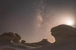 Milky Way over Egypt's White Desert