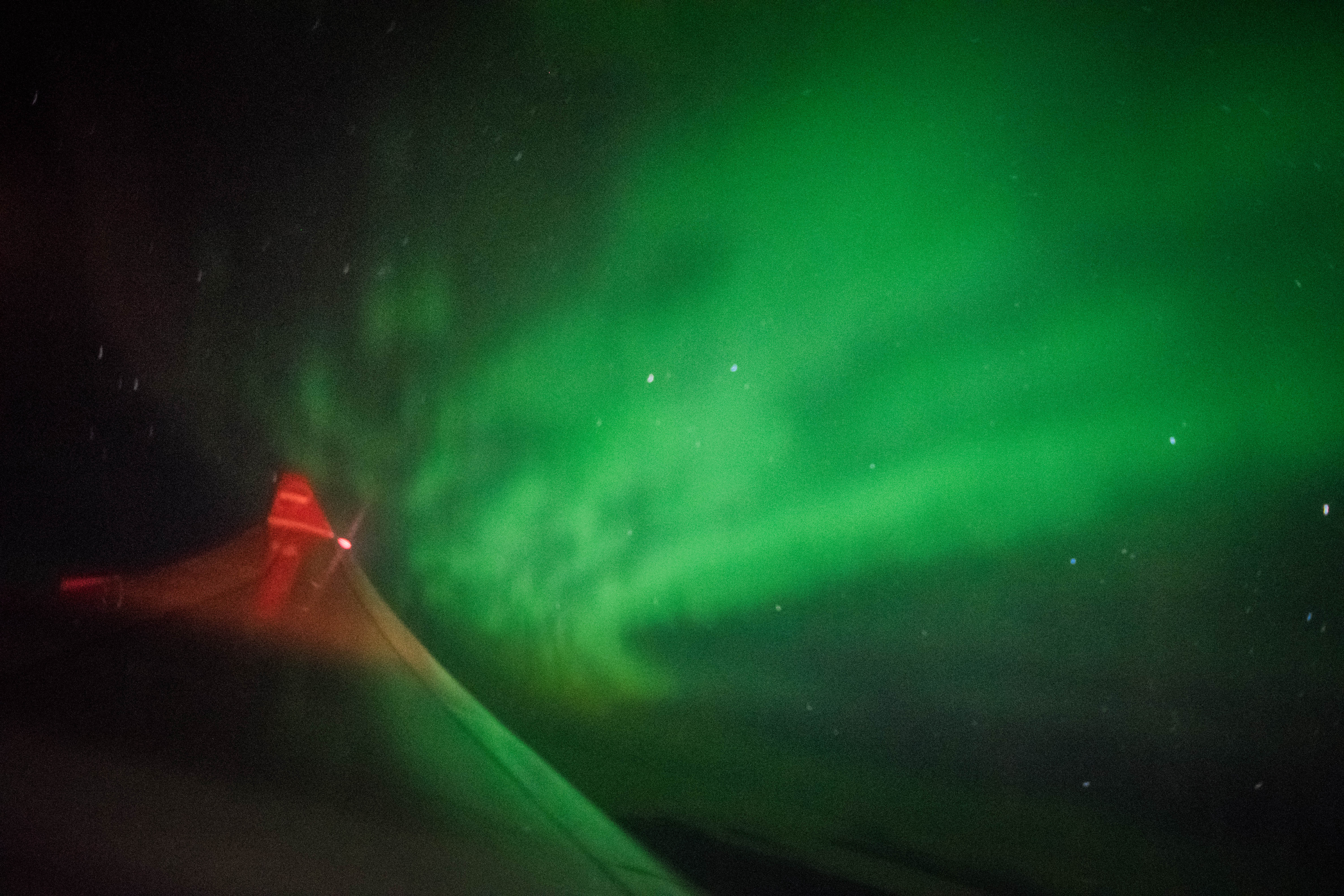 Aurora In-Flight over Canada