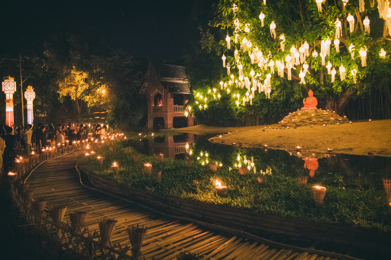 Loy Krathong, Chiang Mai, Thailand