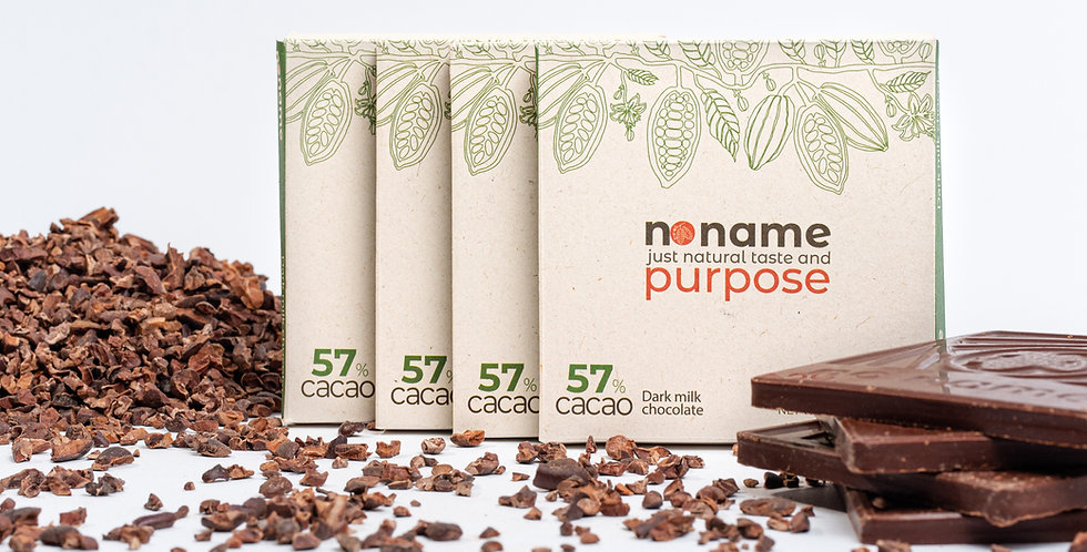 Dark milk chocolate 57% CACAO