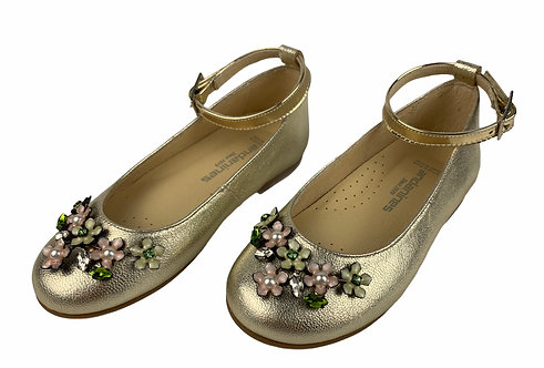 Bailarina Champagne y flores
