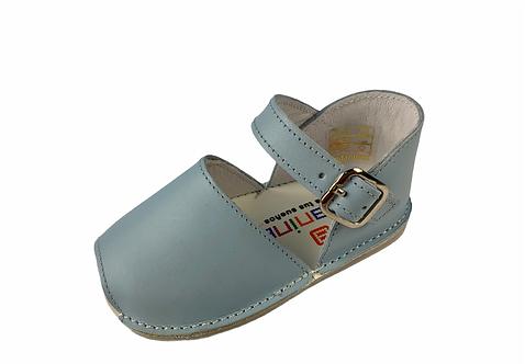 Sandalia de cuero Eco Celeste