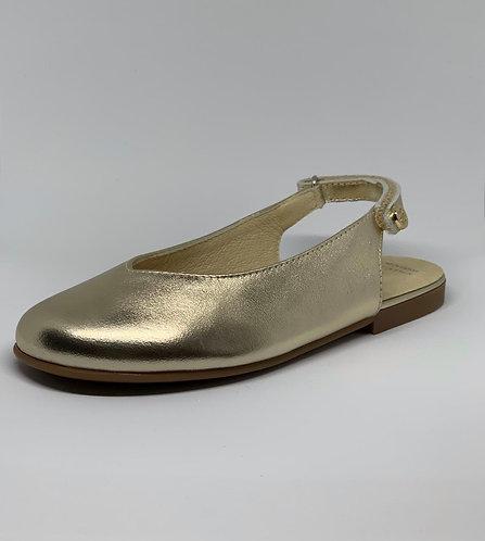 Sandalia Mule Dorada