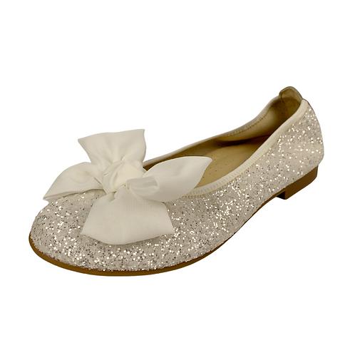 Calzado blanco Glitter para Ceremonia