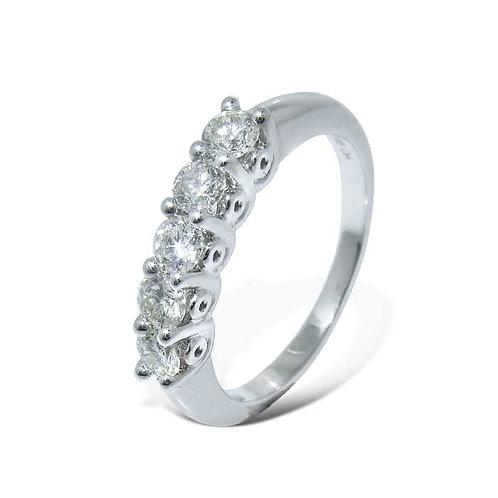 Diamantring forlovelsesring Azur 0,50 ct W-Si i 14kt gull