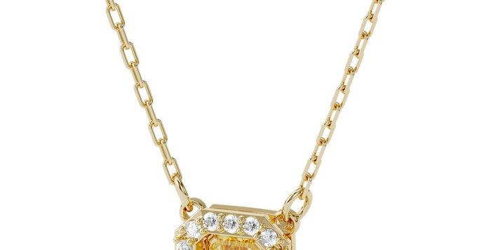 Swarovski smykke Millenia necklace Square Swarovski Zirconia, yellow, gold-tone