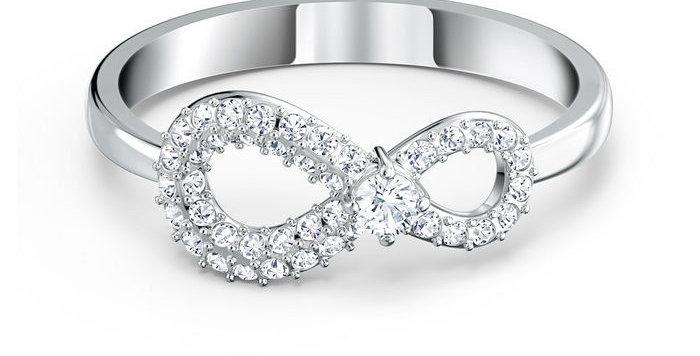 Swarovski ring Infinity, hvitt