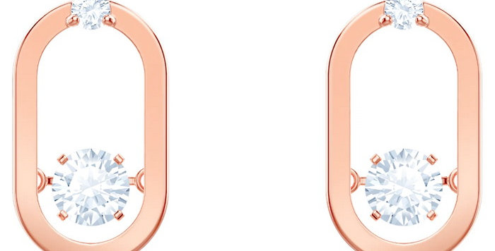 Swarovski øredobber Sparkling Dance, hvitt