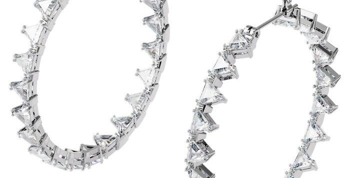 Swarovski øredobber Millenia hoop earrings Triangle Swarovski Zirconia