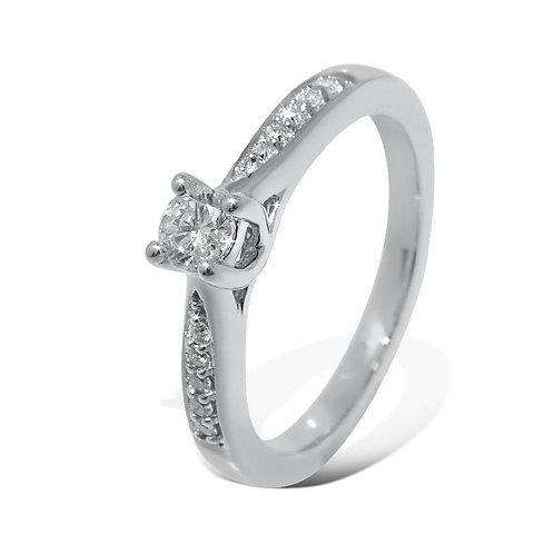 Diamantring forlovelsesring Azur 0,19 ct W-Si i 14kt gull