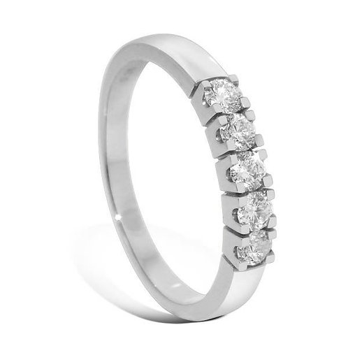 Diamantring forlovelsesring Iselin 5x0,07 ct i 14kt gull