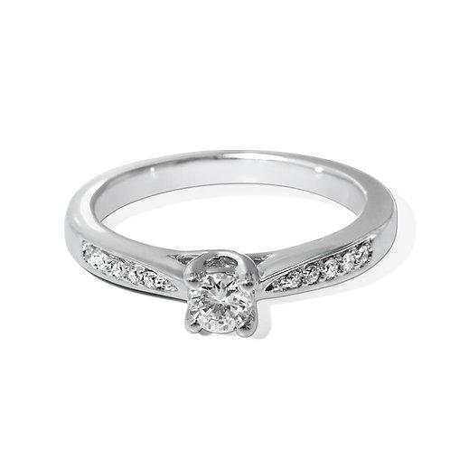 Diamantring forlovelsesring Azur 0,20 ct W-Si i 9kt gull
