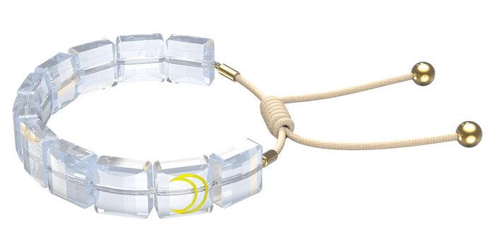 Swarovski armbånd Letra bracelet Moon, White, Gold-tone plated