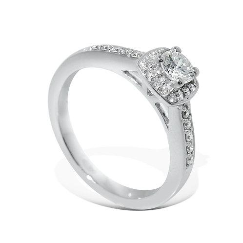 Diamantring forlovelsesring Azur 0,32 ct W-Si i 14kt gull