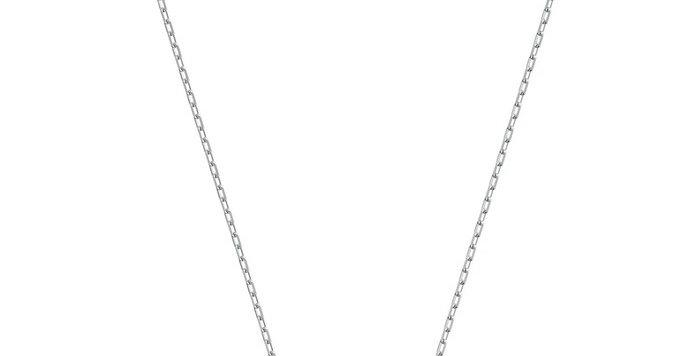 Swarovski smykke Infinity Necklace, hvitt