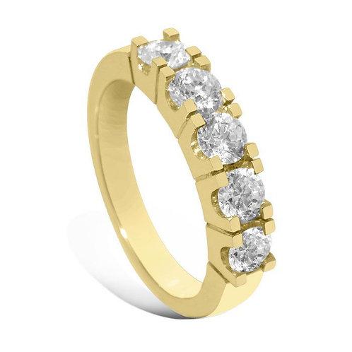 Diamantring forlovelsesring Iselin 5x0,2 ct i 14kt gull