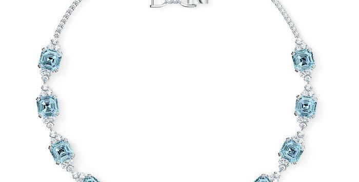 Swarovski collier Sparkling, aqua