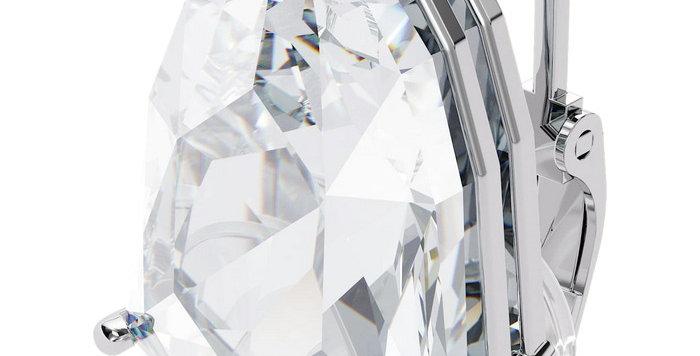 Swarovski øredobber Mesmera clip earring Single, Trilliant cut crystal, White