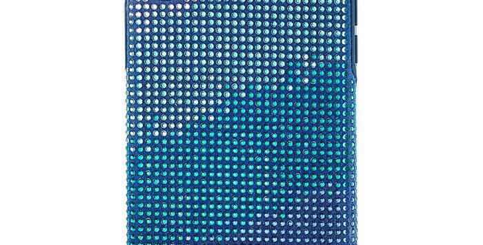 Swarovski  Iphone X-XS deksel Crystalgram, blå