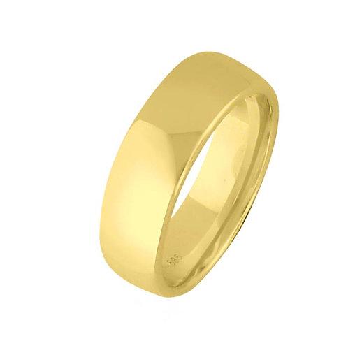 Giftering til herre i gult gull 14kt, 6 mm. OREST modell 803