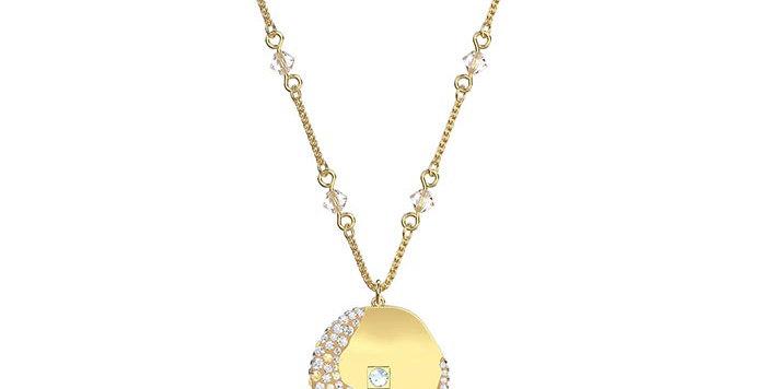 Swarovski smykke The Elements Pendant, med gull krystaller