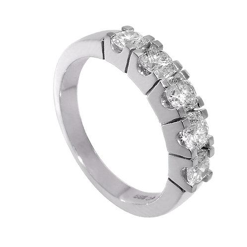 Diamantring forlovelsesring Iselin 5x0,15 ct i 14kt gull