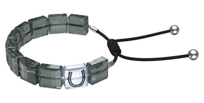 Swarovski armbånd Letra bracelet Horse shoe, Gray, Rhodium plated